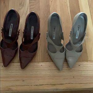 2 pairs of Manolo blahnik heels! Size  38.5